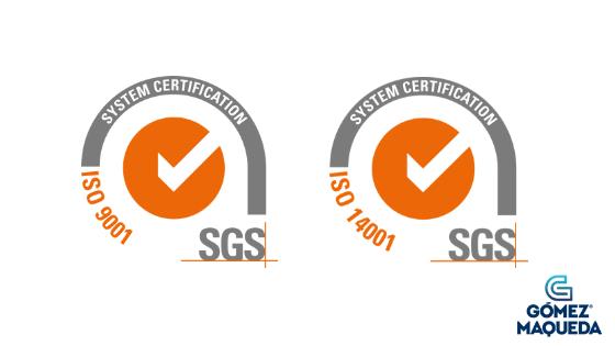 Gómez Maqueda renueva sus certificados de Calidad y Medioambiente con SGS