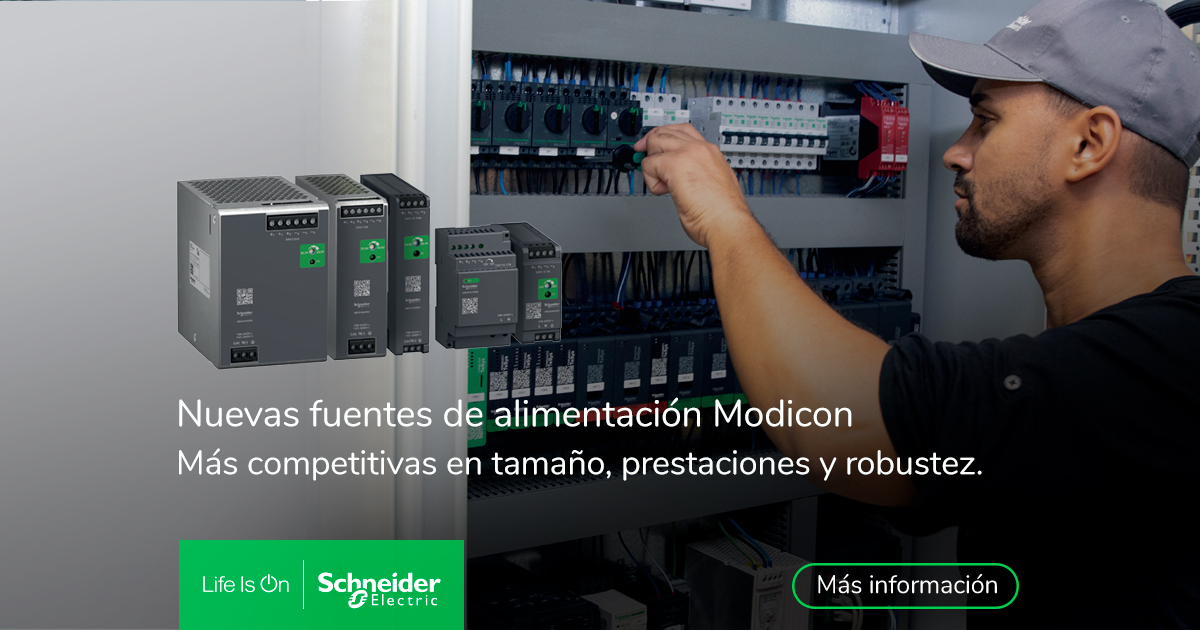 Schneider Electric lanza las nuevas fuentes de alimentación Modicon